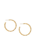 Load image into Gallery viewer, Lathan Twisted Wire Hoops in 18k Gold