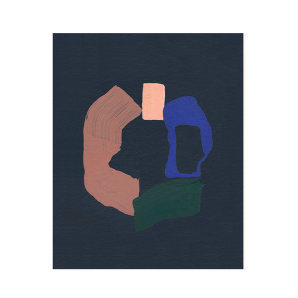 Ring Abstract Art Print | Moglea | Navy Abstract Print | Golden Rule Gallery | Excelsior, MN