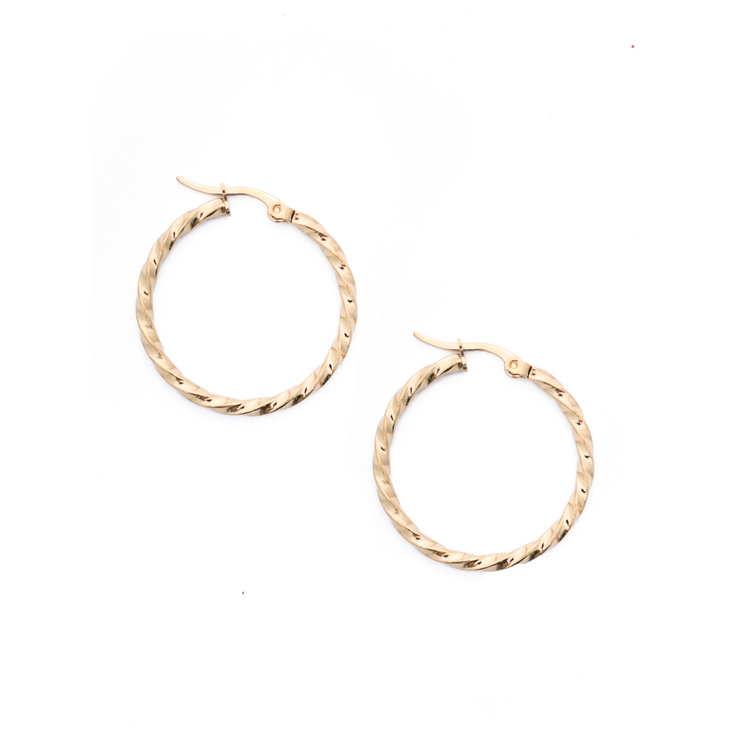 Lasso Hoop Earrings