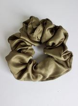 Load image into Gallery viewer, Olive Satin Scrunchie
