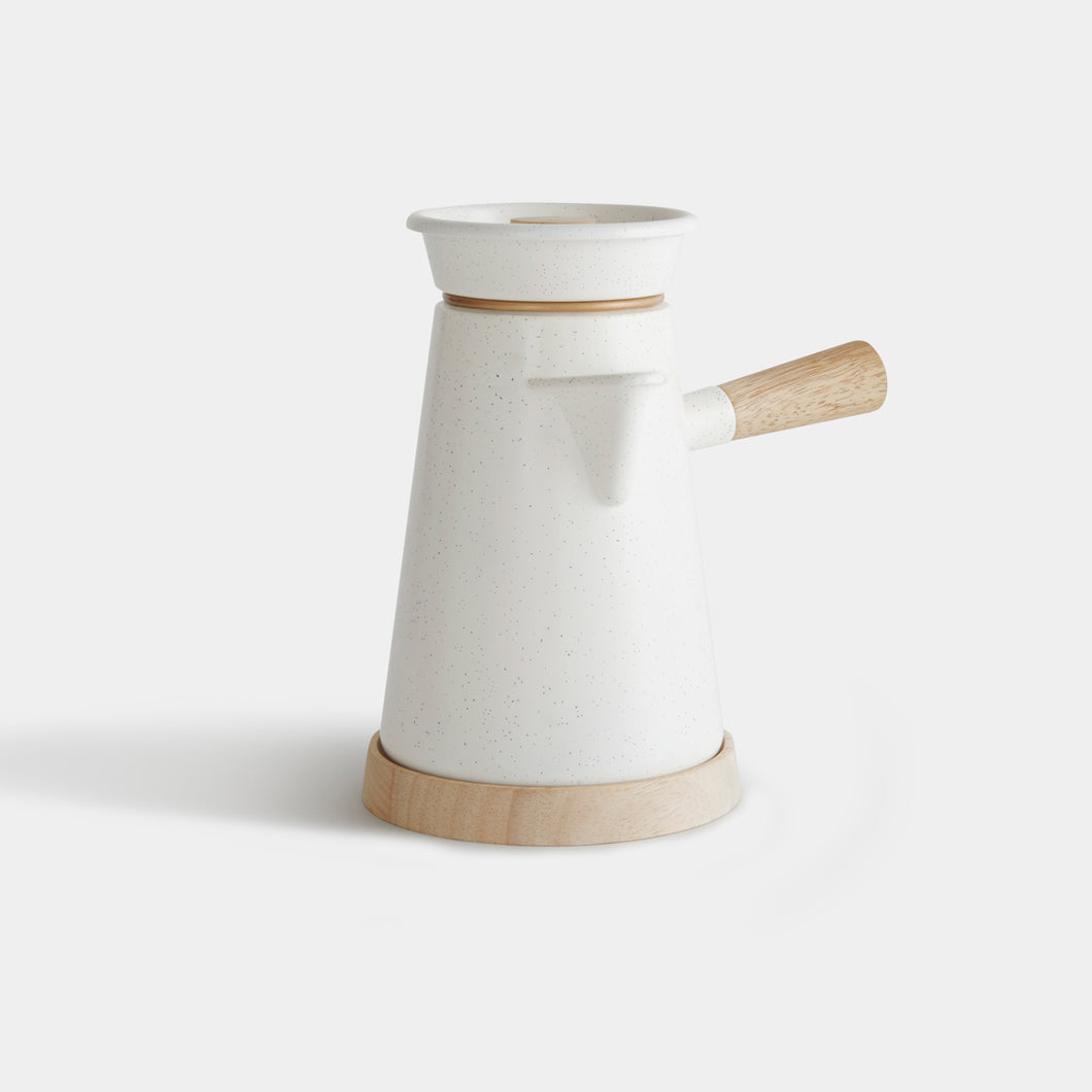 Cowboy Coffee Kettle in White