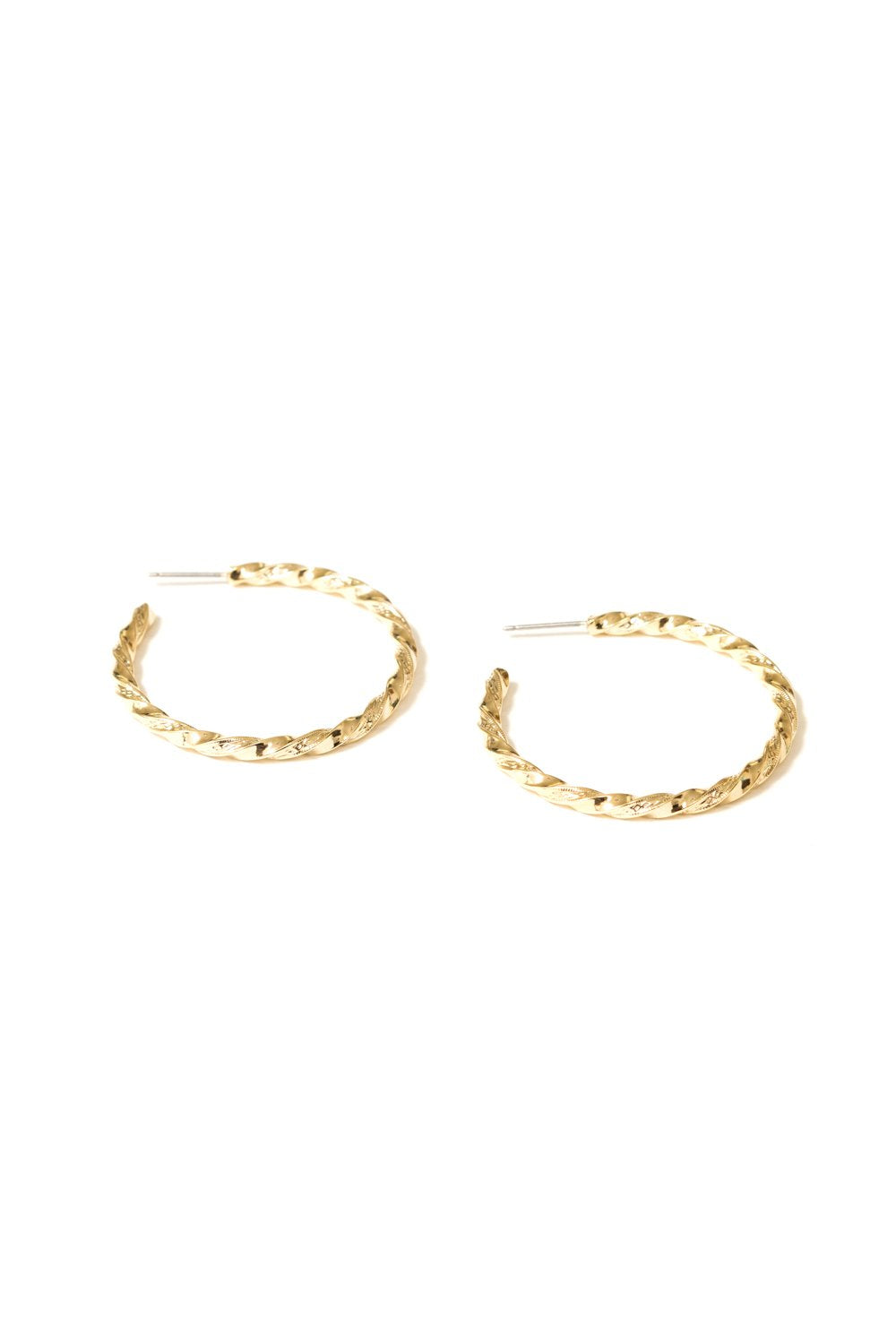Lathan Twisted Wire Hoops in 18k Gold