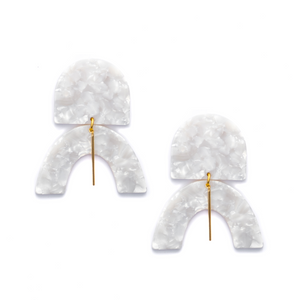 Drew Acrylic Statement Earrings – Crystal Quartz