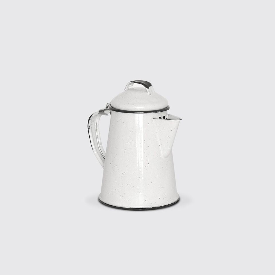 Enamel Coffee Pot 650ml in White