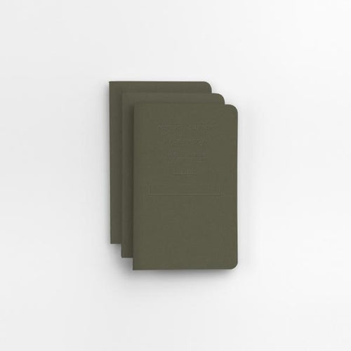 Public-Supply Embossed Pocket Notebook - Olive