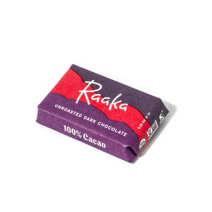Raaka Chocolate Mini Bar - 100% Cacao