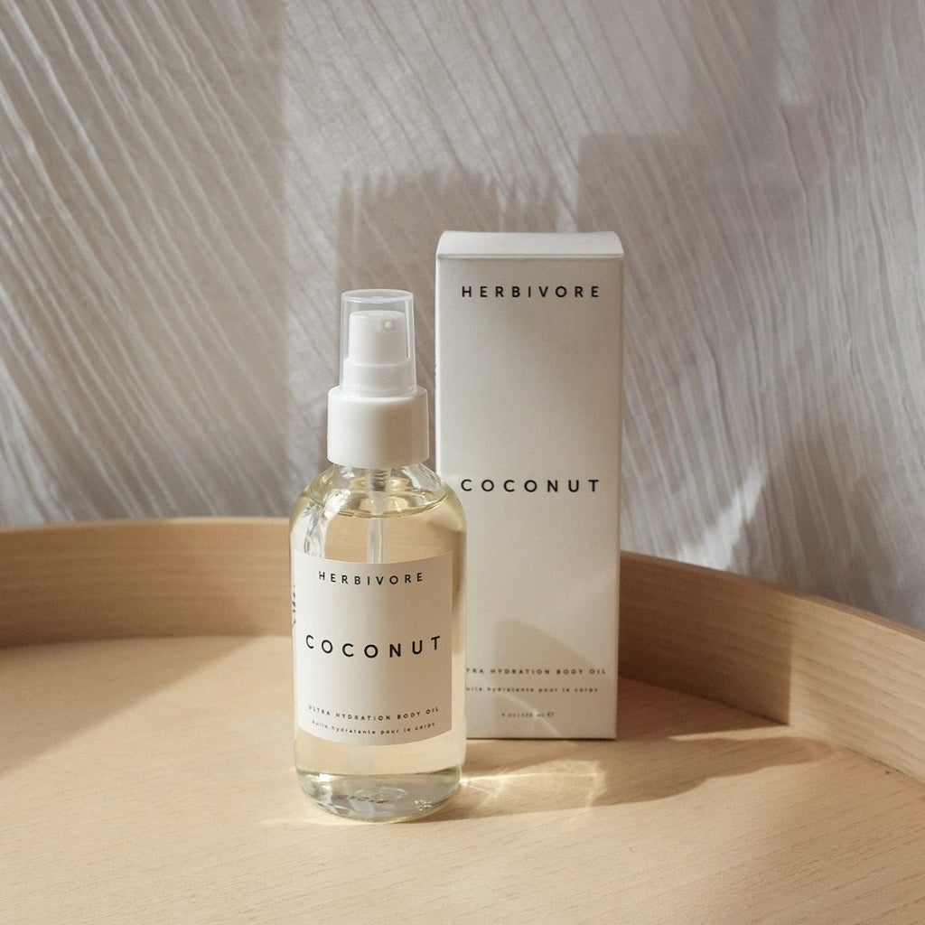 Herbivore Botanical Coconut Body Oil | Vegan Organic Clean Beauty | Golden Rule Gallery | Excelsior, MN
