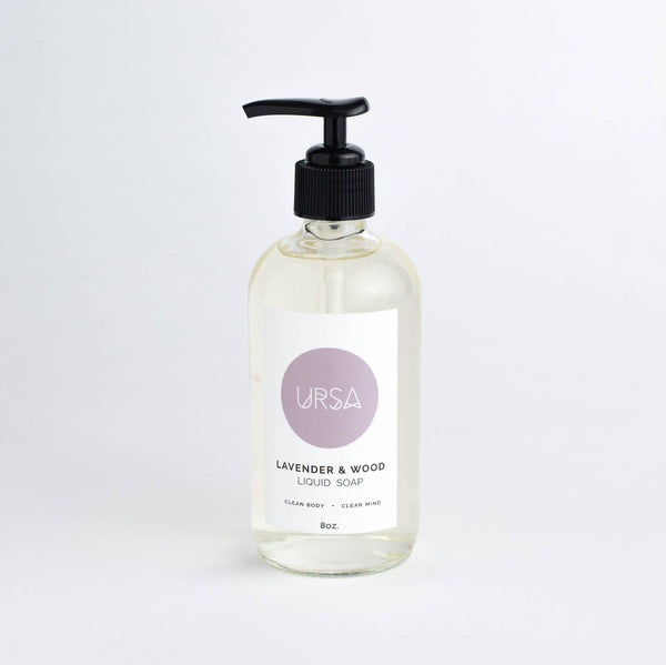 Lavender and Wood Liquid Soap | URSA | Golden Rule Gallery | Clean Beauty | Excelsior, MN