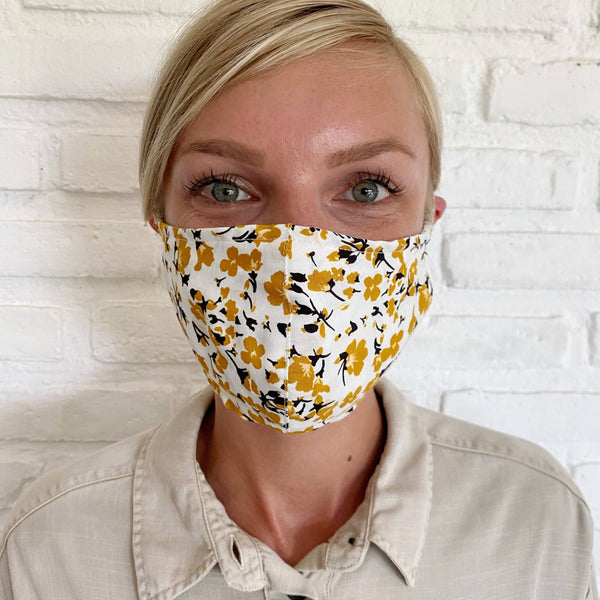 Floral Mask PPE