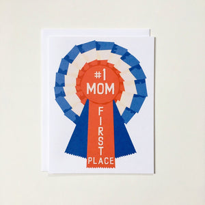 Number One (#1) Mom Ribbon Rosette Card