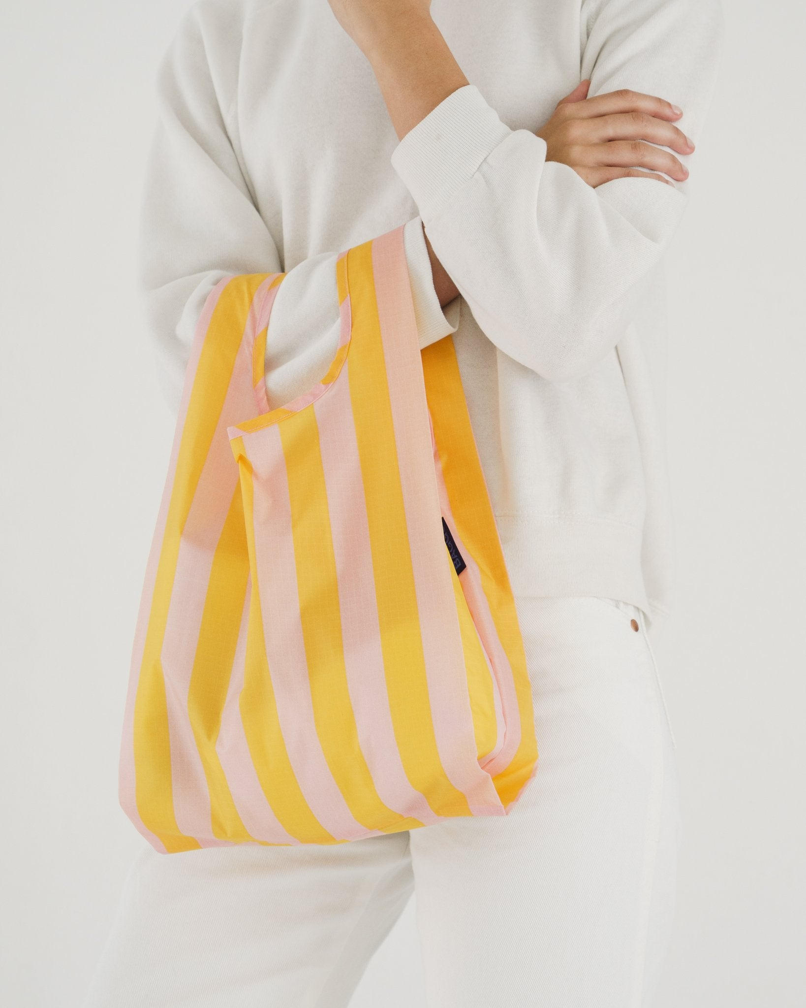 Baby Reusable Tote in Marigold Stripe – GOLDEN RULE GALLERY