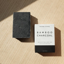 Load image into Gallery viewer, Bamboo Cleansing Charcoal Bar Soap