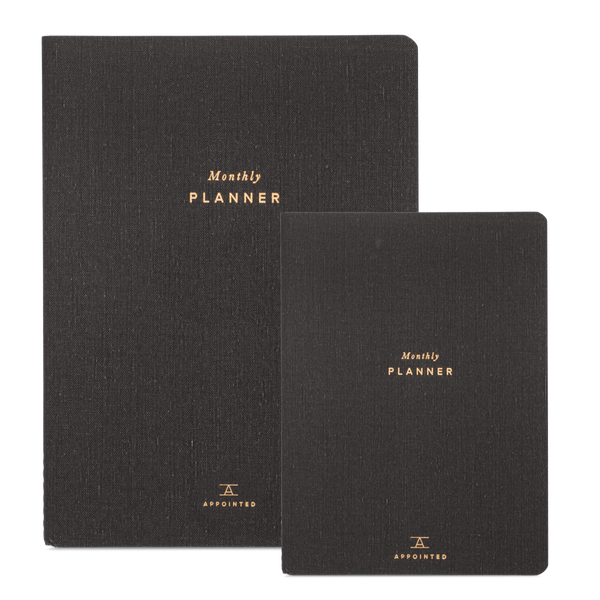 Charcoal Monthly Planner | Charcoal Monthly Agenda | Appointed Planner | Golden Rule Gallery | Excelsior, MN