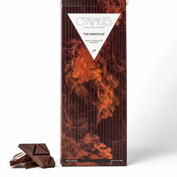 Nightcap Whisky Dark Chocolate Bar | Compartés Chocolatier | Gifts for Men | Flavored Dark Chocolate Bar | Golden Rule Gallery | Excelsior, MN