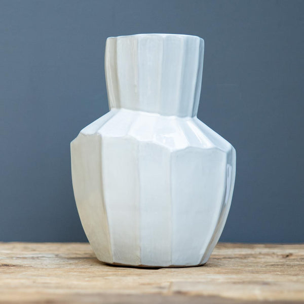 Tiburon Medium Vase | White Ceramic Vase | Gather & Serve | Golden Rule Gallery | Excelsior, MN