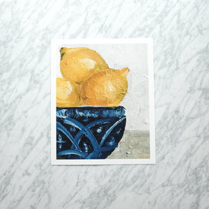 Lemons in a Bowl Art Print