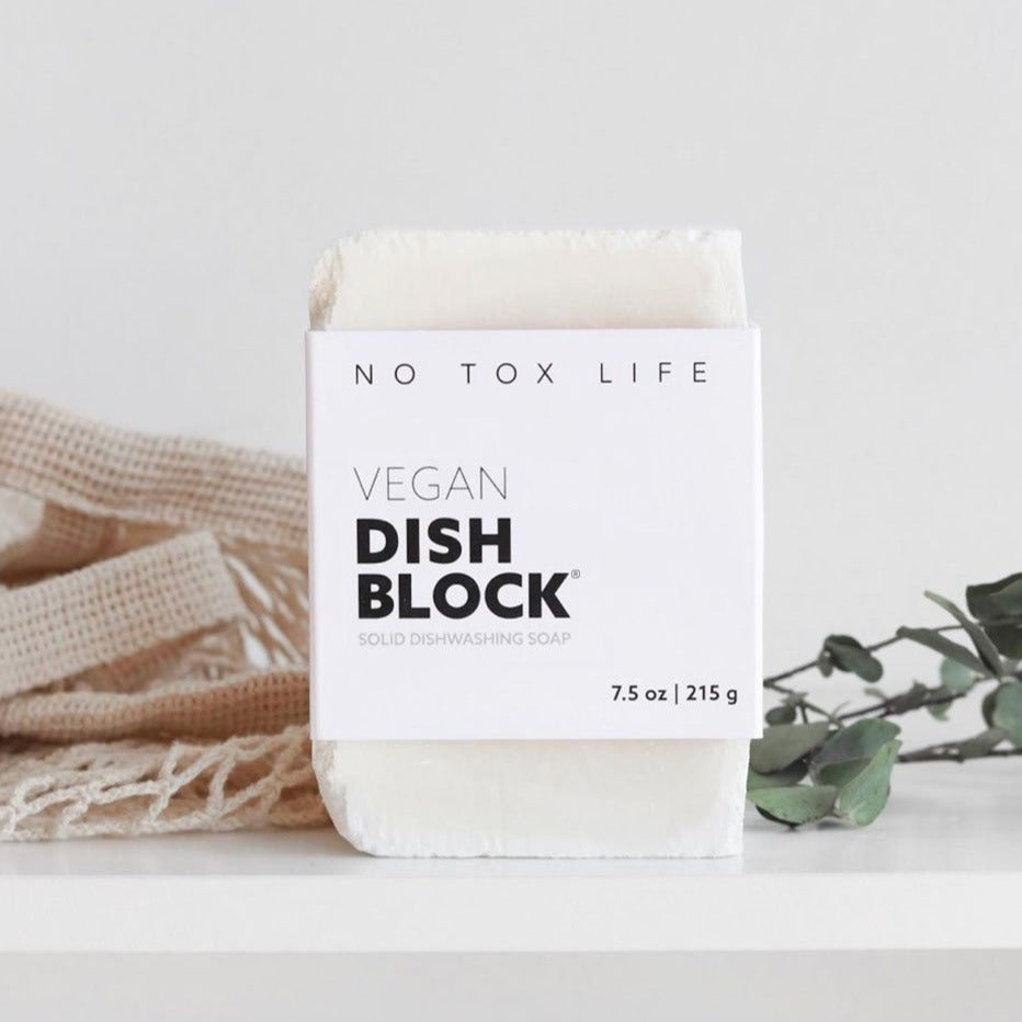 Vegan Dish Block Soap | Eco Sustainable Solid Dishwashing Soap | Golden Rule Gallery | Minnesota