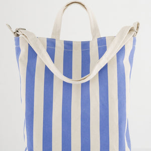 Canvas Duck Bag in Cornflower Stripe