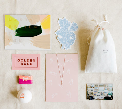 Golden Rule Easter Basket in a Box Flatlay