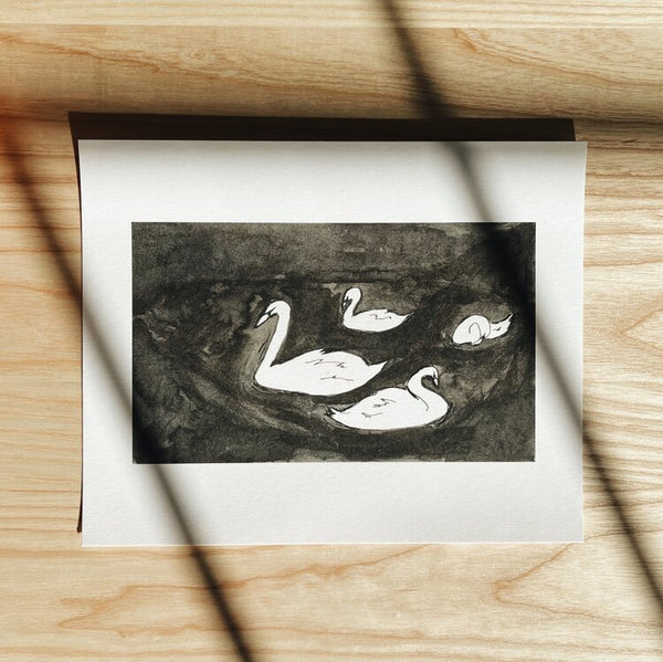 The Swans Art Print | Anna Lisabeth | Minnesota Artists | Golden Rule Gallery | Excelsior, MN | MPLS