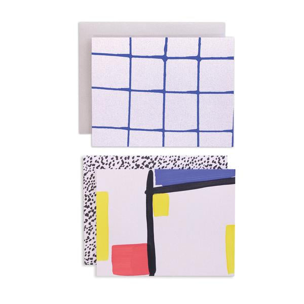 Bauhaus Card Set | Moglea | Hand Painted Card Set | Golden Rule Gallery | Excelsior, MN