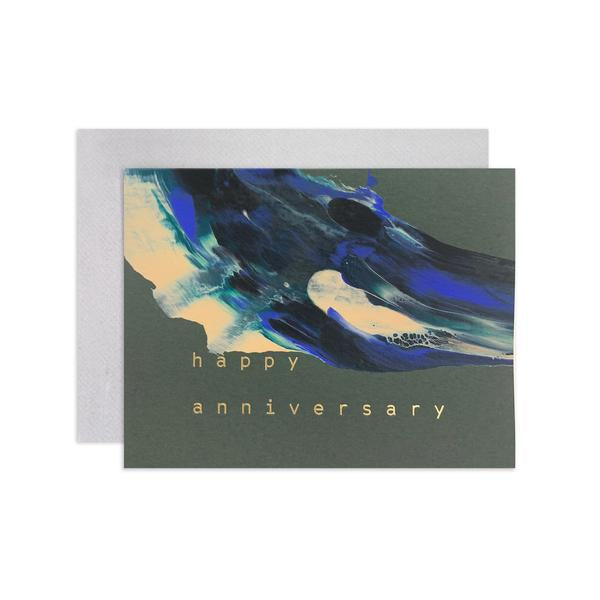 Anniversary Swirl Card | Anniversary Art Card | Moglea | Happy Anniversary Card | Excelsior, MN | Golden Rule Gallery