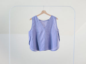 Marcell Top in Twilight Linen