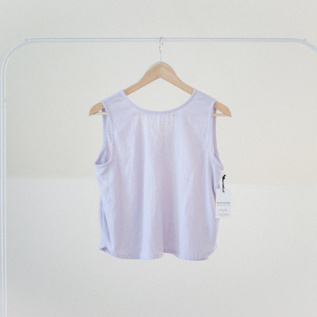 Marcell Top in Lavender Linen