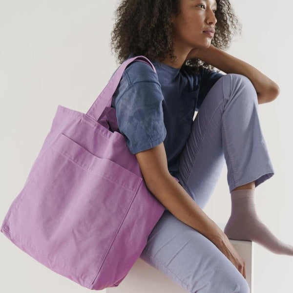Baggu Giant Pocket Tote in Washed Mixed Berry | Golden Rule Gallery | Excelsior, MN | Eco Shopper