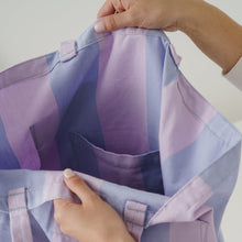 Load image into Gallery viewer, Giant Pocket Tote in Pale Orchid Stripe