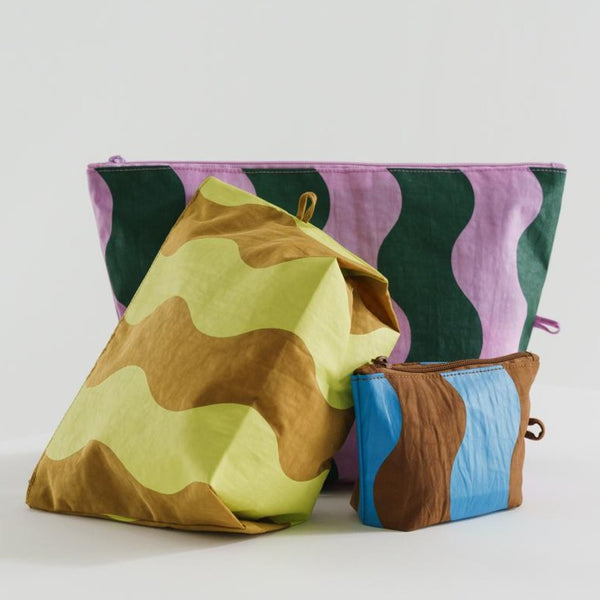 Baggu Go Pouch Set in Wavy Stripes | Golden Rule Gallery | Excelsior, MN