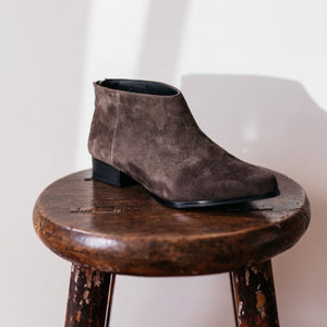 Pixie Ankle Boots in Charcoal Suede