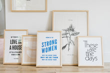 Load image into Gallery viewer, Here's to Strong Women Letterpress Art Print