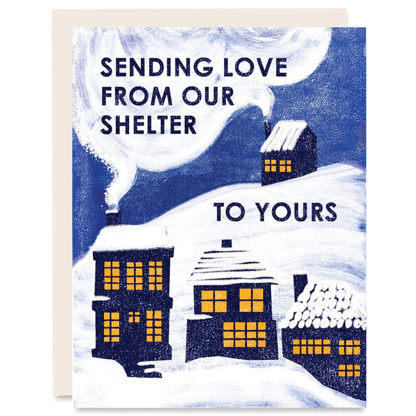 From Our Shelter to Yours Indigo Printed Card Set of 6 | Heartell Press | Boxed Cards Set of 6 | Golden Rule Gallery | Excelsior, MN