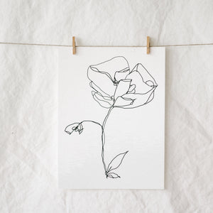 A Single Bloom Art Print