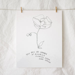 Bloom Again Come Spring Art Print