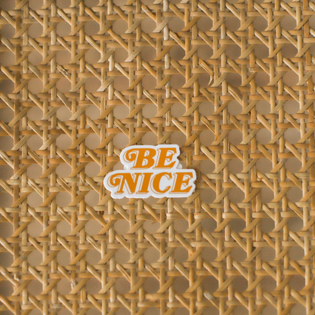 Be Nice Sticker | Grl & Co Stickers | Positive Message Sticker | Laptop Stickers | Water Bottle Stickers | Golden Rule Gallery | Excelsior, MN