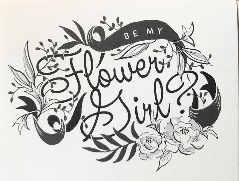 Be My Flower Girl Card | Wedding Party Card | Amy Heitman | Golden Rule Gallery | Excelsior, MN