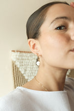 Load image into Gallery viewer, Pearl Hoop Earrings Made In Minnesota