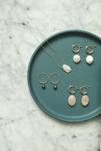 Load image into Gallery viewer, Hoop Earrings With Pearls Handmade in MN