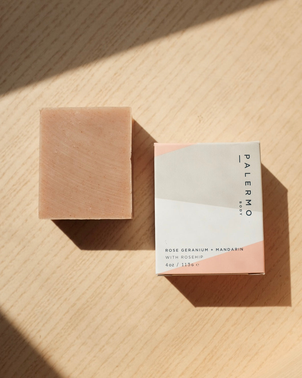 Rose Geranium, Mandarin, and Rosehip Soap