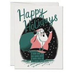 Santa Chimney | Holiday Card | Red Cap Cards | Golden Rule Gallery