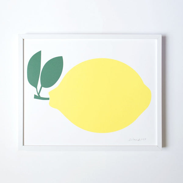 Lemon Art Print Framed | Framed Lemon Print | Golden Rule Gallery | Framed Art | Excelsior, MN