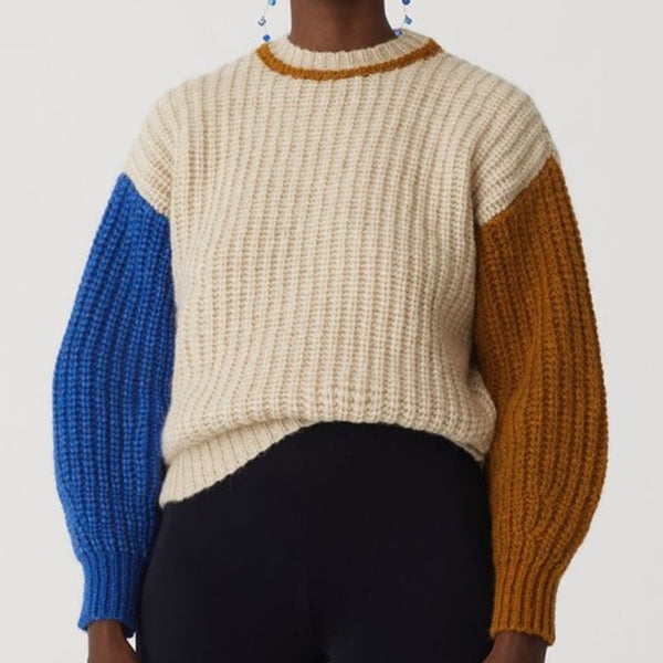 Paloma Wool Frigo Sweater | Frigo Knit | Color-block Sweater | Golden Rule Gallery | Excelsior, MN