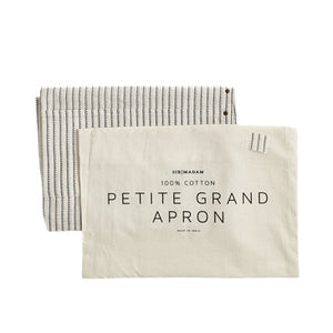 Cotton Petite Grand Apron in Dotted Pinstripe