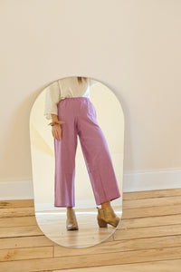 Donni Purple Linen Bloom Pants