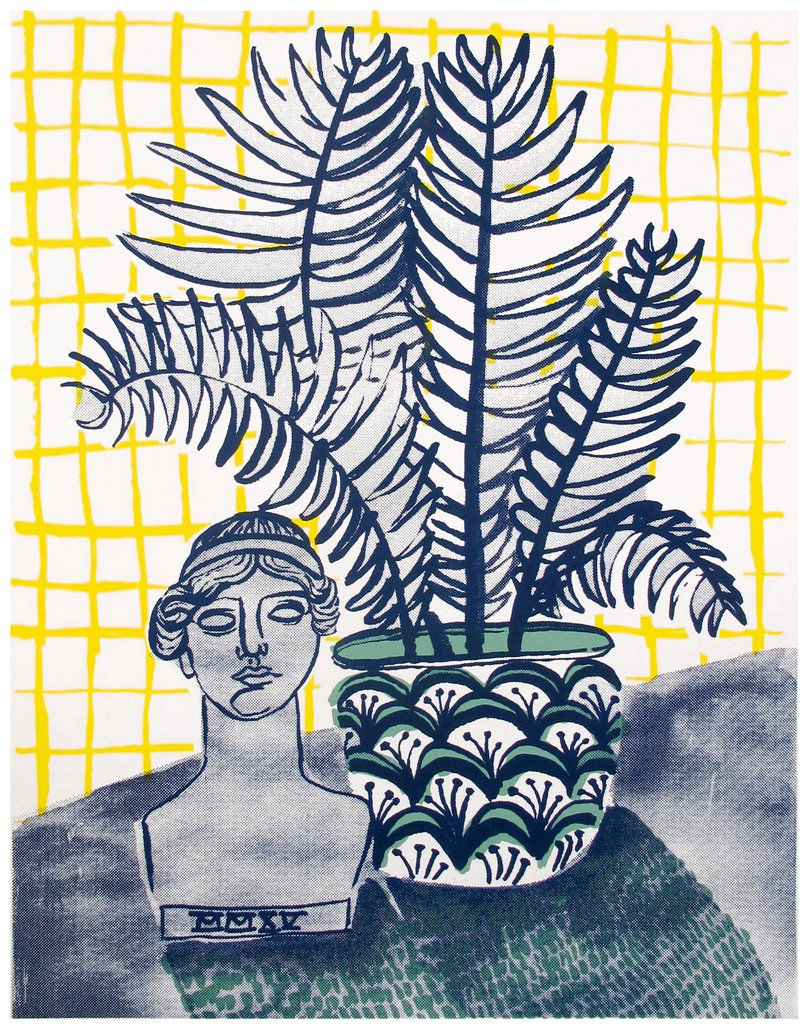 A Lady and a Fern Print