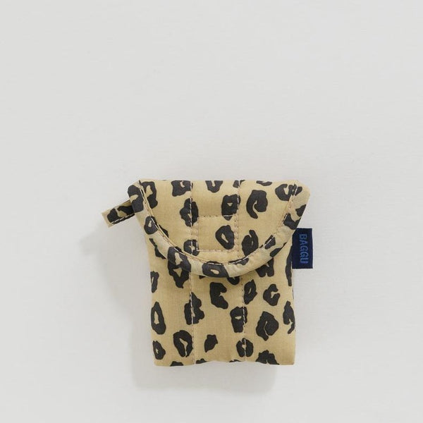 Baggu Puffy Earbud Case | Travel Earbud Case | Case for Earbuds | Baggu Honey Leopard | Golden Rule Gallery | Excelsior, MN