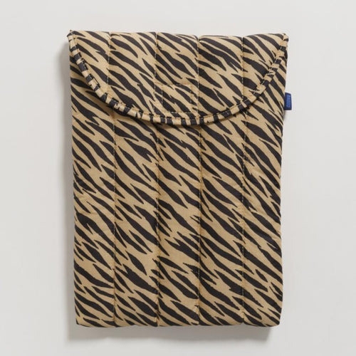 Puffy Laptop Sleeve in Tiger Stripe