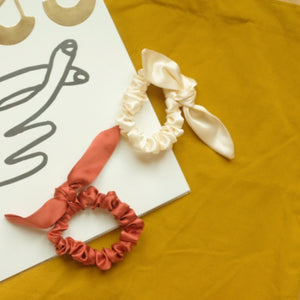 Silk Chiquita Scrunchie with Bow Detail